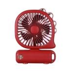 Portable Mini USB Charging Fan Air Cooler(Desktop Dinosaur – Red)