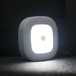 1145 Human Body Induction Ceiling Light Wireless Installation Battery Ceiling Lamp(White Shell Warm Light)