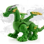 Electric Mechanical Dinosaur Toy Simulation Animal Toy Multifunctional Sound And Light Toy, Style: No Spray-Green