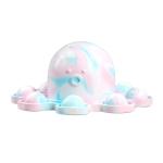 2 PCS Double-Sided Flip Bubble Decompression Toy Octopus Keychain, Colour: Camouflage Blue
