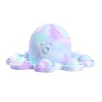 2 PCS Double-Sided Flip Bubble Decompression Toy Octopus Keychain, Colour: Camouflage Purple