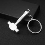 10 PCS Tool Metal Keychain Car Key Ring Pendant, Colour: H-403 Glossy Hammer