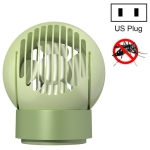 4 In 1 Suction Electronic Mosquito Killer Remote Control Rotating Night Light Negative Ion Fan, US Plug(Green)