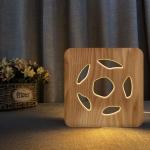 FS-T1992W 2.5W Football Shape Solid Wood Table Lamp LED Night Light(Warm White Light)