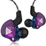 QKZ AK6 2 PCS  In-Ear 3.5mm Wired Subwoofer Sports Earphones(AK6-Purple)
