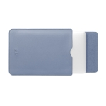 BUBM PGDNB-13 Vertical Square Type Solid Color PU Leather Waterproof Laptop Handbag Liner Bag, Size: 13 inch(Sky Blue)