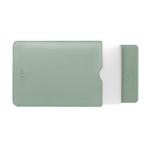 BUBM PGDNB-13 Vertical Square Type Solid Color PU Leather Waterproof Laptop Handbag Liner Bag, Size: 15 inch(Matcha Green)