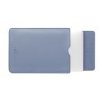 BUBM PGDNB-13 Vertical Square Type Solid Color PU Leather Waterproof Laptop Handbag Liner Bag, Size: 15 inch(Sky Blue)
