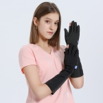 GOLOVEJOY XG33 Summer Ice Silk Sun-Proof Sleeve Outdoor Riding Anti-UV Gloves, Size: M(Black)