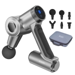 AISZG Three-Speed Rotating Head Fascia Muscle Electric Massager(Metal Gray)