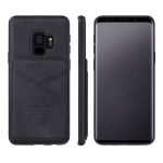 For Samsung Galaxy S9+ TAOKKIM Retro Matte PU Leather + PC + TPU Shockproof Back Cover Case with Holder & Card Slot(Black)