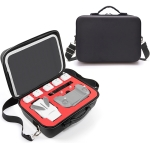 Portable Single Shoulder Storage Travel Carrying Cover Case Box with Baffle Separator for FIMI X8 mini(Black + Red Liner)