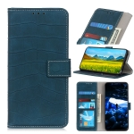 Crocodile Texture Horizontal Flip Leather Case with Holder & Card Slots & Wallet For iPhone 13(Dark Green)