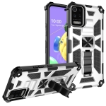 For OnePlus Nord / Nord N200 5G Shockproof TPU + PC Magnetic Protective Case with Holder(Silver)
