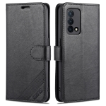 For OPPO K9 AZNS Sheepskin Texture Horizontal Flip Leather Case with Holder & Card Slots & Wallet(Black)
