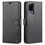 For vivo S9e AZNS Sheepskin Texture Horizontal Flip Leather Case with Holder & Card Slots & Wallet(Black)