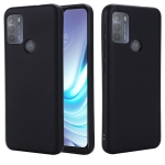 For Motorola Moto G50 Pure Color Liquid Silicone Shockproof Full Coverage Case(Black)