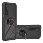 For LG Stylo 7 5G Starry Sky Solid Color Series Shockproof PC + TPU Protective Case with Ring Holder & Magnetic Function(Black)