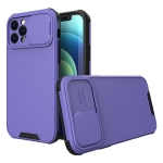 Sliding Camera Cover Design PC + TPU Protective Case For iPhone 12 Pro Max(Purple)