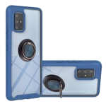 For Samsung Galaxy A71 5G Starry Sky Solid Color Series Shockproof PC + TPU Protective Case with Ring Holder & Magnetic Function(Blue)