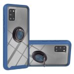 For Samsung Galaxy A31 Starry Sky Solid Color Series Shockproof PC + TPU Protective Case with Ring Holder & Magnetic Function(Blue)