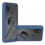 For Samsung Galaxy A21s / A217F Starry Sky Solid Color Series Shockproof PC + TPU Protective Case with Ring Holder & Magnetic Function(Blue)