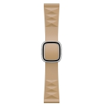 Modern Style Silicone Replacement Strap Watchband For Apple Watch Series 6 & SE & 5 & 4 40mm / 3 & 2 & 1 38mm, Style:Silver Buckle(Walnut)
