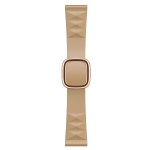 Modern Style Silicone Replacement Strap Watchband For Apple Watch Series 6 & SE & 5 & 4 44mm / 3 & 2 & 1 42mm, Style:Rose Gold Buckle(Walnut)
