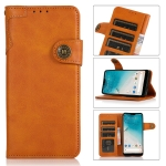 For Samsung Galaxy M32 KHAZNEH Dual-Splicing Cowhide Texture Horizontal Flip Leather Case with Holder & Card Slots & Wallet & Photo Frame & Lanyard(Brown)