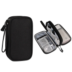 SM05 Double-layer Digital Accessory Storage Bag with Lanyard(Black)