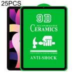 25 PCS 9D Full Screen Full Glue Ceramic Film For iPad Pro 11 / Air 4 10.9 inch