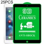 25 PCS 9D Full Screen Full Glue Ceramic Film For iPad Air / Air 2 9.7 inch