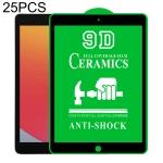 25 PCS 9D Full Screen Full Glue Ceramic Film For iPad 10.2 2020