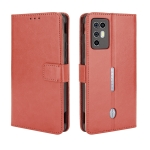 For ZTE Nubia Red Magic 6R Crazy Horse Texture Horizontal Flip Leather Case with Holder & Card Slots & Lanyard(Brown)