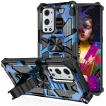 Camouflage Armor Shockproof TPU + PC Magnetic Protective Case with Holder For OnePlus Nord N200 5G(Blue)