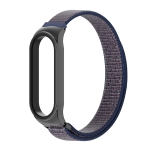 For Xiaomi Mi Band 6 / 5 / 4 / 3 CS Lightweight Breathable Nylon Replacement Watchband(Midnight Blue)
