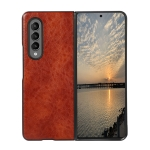 For Samsung Galaxy Z Fold3 5G Crazy Horse Texture Shockproof Protective Leather Case(Brown)