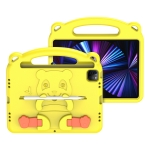 DUX DUCIS PANDA Series Shockproof EVA Protective Case with Handle & Holder & Pen Slot For iPad Pro 11 inch 2021 & 2020 & 2018 / Air 4(Yellow)