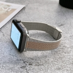 Small Waist Steel Replacement Strap Watchband For Apple Watch Series 6 & SE & 5 & 4 44mm / 3 & 2 & 1 42mm(Silver Rose Gold)