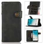 For Nokia C01 Core KHAZNEH Dual-Splicing Cowhide Texture Horizontal Flip Leather Case with Holder & Card Slots & Wallet & Photo Frame & Lanyard(Black)