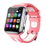 W5 1.54 inch Full-fit Screen Dual Cameras Smart Phone Watch, Support SIM Card / GPS Tracking / Real-time Trajectory / Temperature Monitoring, 2GB+16GB(Silver Pink)