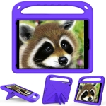 Handle Portable EVA Shockproof Protective Case with Triangle Holder For iPad 10.2 2020 / 2019(Purple)