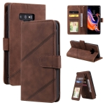 For Samsung Galaxy Note9 Skin Feel Business Horizontal Flip PU Leather Case with Holder & Multi-Card Slots & Wallet & Lanyard & Photo Frame(Brown)