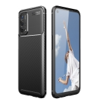 For OnePlus Nord N200 5G Carbon Fiber Texture Shockproof TPU Case(Black)