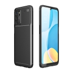 For OPPO A16 Carbon Fiber Texture Shockproof TPU Case(Black)