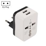 WN-2018 Dual USB Travel Charger Power Adapter Socket, EU Plug