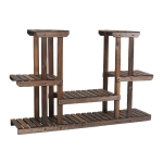 [US Warehouse] PG-S05 4 Tier Multifunctional Bamboo Plant Flower Stand