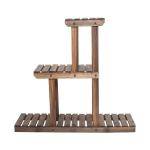 [US Warehouse] PG-S04 3 Tier Multifunctional Bamboo Plant Flower Stand