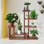 [US Warehouse] Indoor Outdoor 4 Tier Wood Plant Stand Flower Pots Holder, Size: 95×24.9x95cm