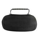 EVA Portable Bluetooth Speaker Storage Box with Shoulder Strap & Carabiner For JBL Charge 5 (Black)